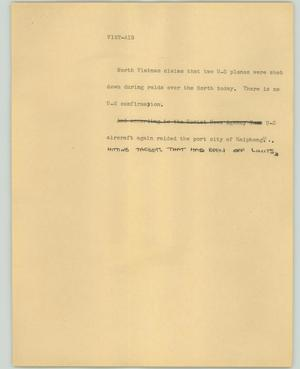 Primary view of object titled '[News Script: Viet Air]'.