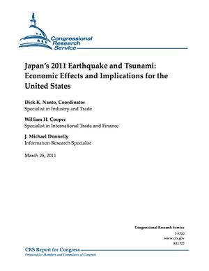 Japan's 2011 Earthquake and Tsunami: Economic Effects and Implications for the United States