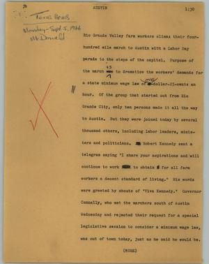 Primary view of object titled '[News Script: Austin]'.