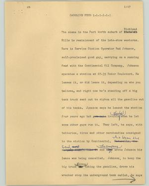Primary view of object titled '[News Script: Gasoline feud]'.