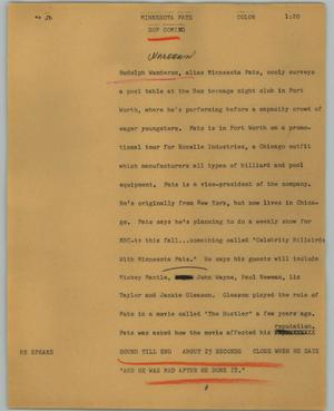Primary view of object titled '[News Script: Minnesota]'.