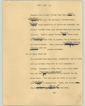 Primary view of object titled '[News Script: Witt]'.