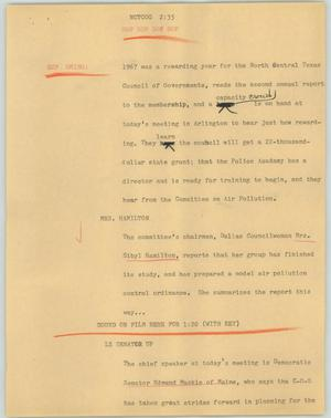 Primary view of object titled '[News Script: NCTCOG]'.