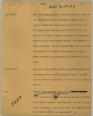 Primary view of object titled '[News Script: Benny]'.