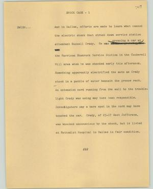 Primary view of object titled '[News Script: Shock case]'.