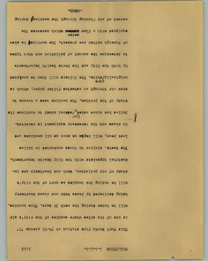 Primary view of object titled '[News Script: Pollution]'.