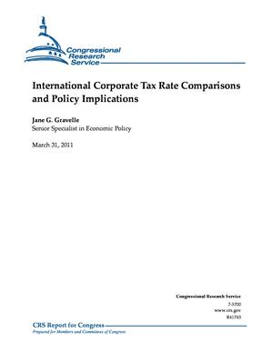 International Corporate Tax Rate Comparisons and Policy Implications