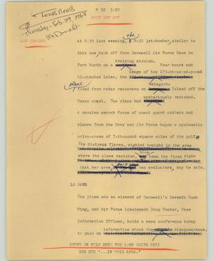 Primary view of object titled '[News Script: Texas news]'.