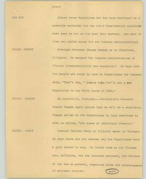 Primary view of object titled '[News Script: G-O-P]'.