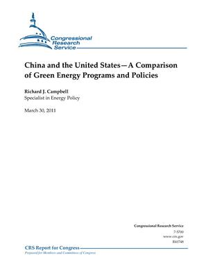 China and the United States—A Comparison of Green Energy Programs and Policies