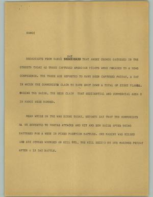 Primary view of object titled '[News Script: Hanoi]'.