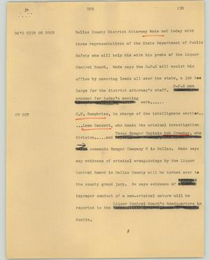 Primary view of object titled '[News Script: DPS]'.