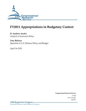 FY2011 Appropriations in Budgetary Context