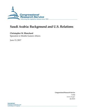 Primary view of object titled 'Saudi Arabia: Background and U.S. Relations'.