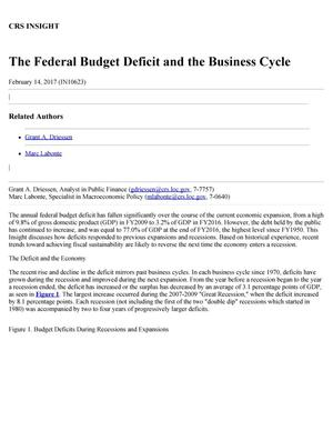 Primary view of object titled 'The Federal Budget Deficit and the Business Cycle'.