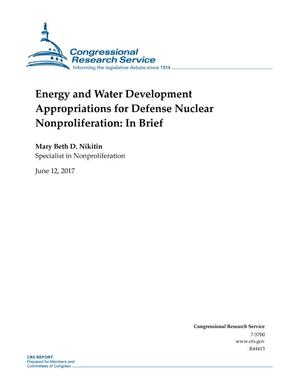 Primary view of object titled 'Energy and Water Development Appropriations for Defense Nuclear Nonproliferation: In Brief'.