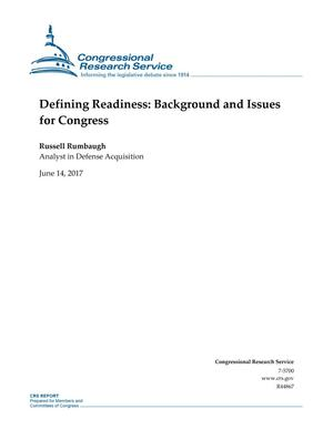 Primary view of object titled 'Defining Readiness: Background and Issues for Congress'.