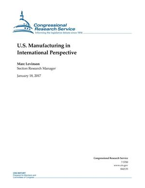 Primary view of object titled 'U.S. Manufacturing in International Perspective'.