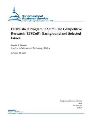 Primary view of object titled 'Established Program to Stimulate Competitive Research (EPSCoR): Background and Selected Issues'.