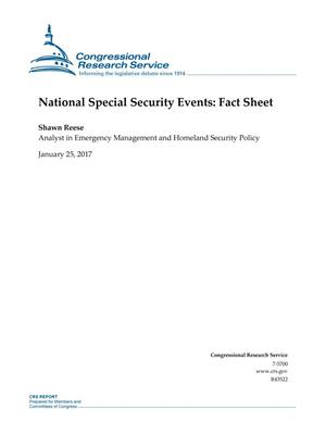 Primary view of object titled 'National Special Security Events: Fact Sheet'.