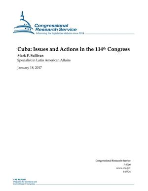 Primary view of object titled 'Cuba: Issues and Actions in the 114th Congress'.