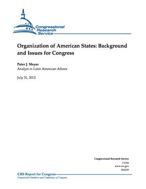 Organization of American States: Background and Issues for Congress