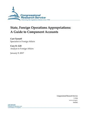 Primary view of object titled 'State, Foreign Operations Appropriations: A Guide to Component Accounts'.