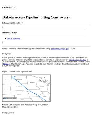 Primary view of object titled 'Dakota Access Pipeline: Siting Controversy'.