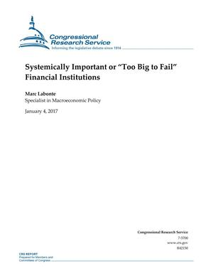 "Primary view of object titled 'Systemically Important or ""Too Big to Fail"" Financial Institutions'."