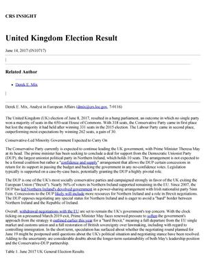 Primary view of object titled 'United Kingdom Election Result'.