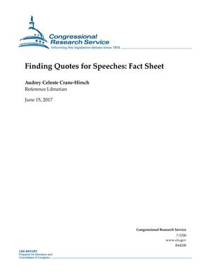 Primary view of object titled 'Finding Quotes for Speeches: Fact Sheet'.