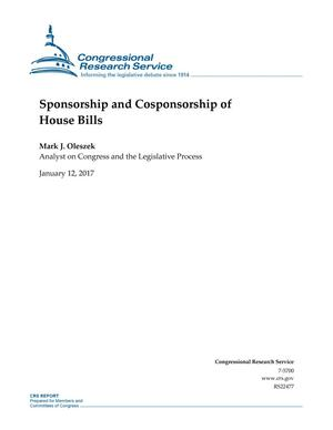 Primary view of object titled 'Sponsorship and Cosponsorship of House Bills'.