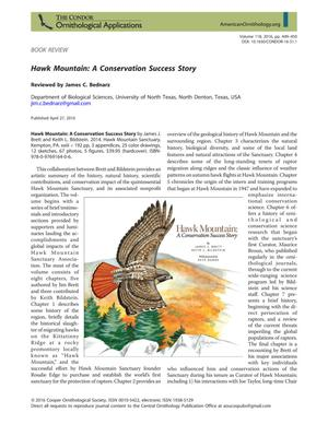 Primary view of object titled 'Hawk Mountain: A Conservation Success Story'.