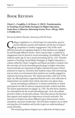 Book Review: Transformation in Teaching: Social Media Strategies in Higher Education