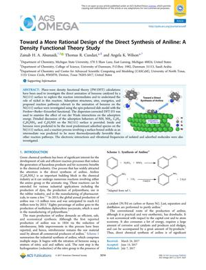 Primary view of object titled 'Toward a More Rational Design of the Direct Synthesis of Aniline: A Density Functional Theory Study'.