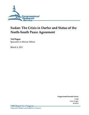 Sudan: The Crisis in Darfur and Status of the North-South Peace Agreement