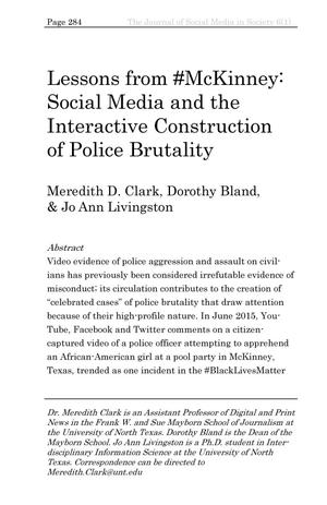 Lessons from #McKinney: Social Media and the Interactive Construction of Police Brutality