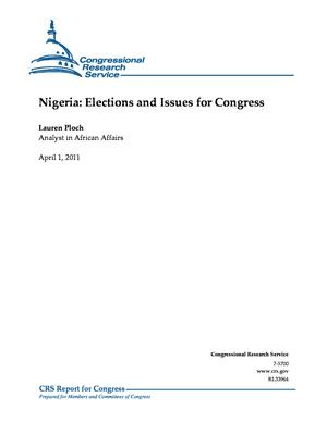 Nigeria: Elections and Issues for Congress