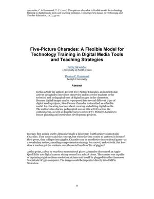 Five-Picture Charades: A Flexible Model for Technology Training in Digital Media Tools and Teaching Strategies