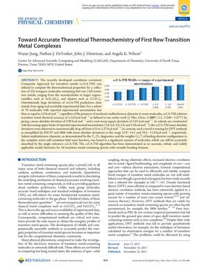 Primary view of object titled 'Toward Accurate Theoretical Thermochemistry of First Row Transition Metal Complexes'.