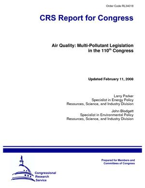 Air Quality: Multi-Pollutant Legislation in the 110th Congress