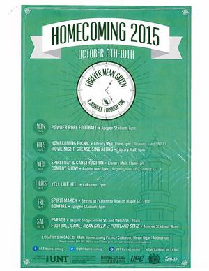 Primary view of object titled 'Homecoming 2015'.