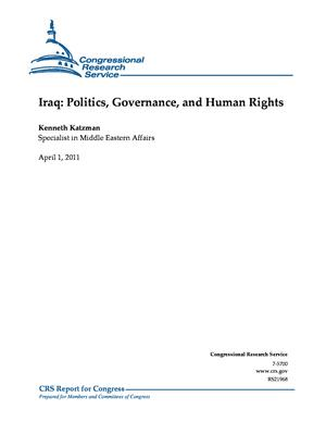 Iraq: Politics, Governance, and Human Rights