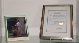 Primary view of object titled '[Victor Rodríguez Photographs and Documents Display, 2]'.