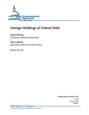 Foreign Holdings of Federal Debt