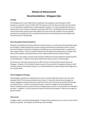 Primary view of object titled 'Recommendations: Wingspan Gala'.
