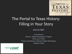 The Portal to Texas History: Filling In Your Story