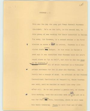 Primary view of object titled '[News Script: Moorman]'.
