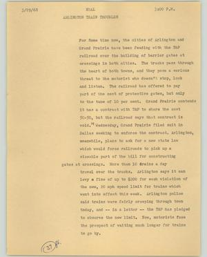 Primary view of object titled '[News Script: Neal]'.