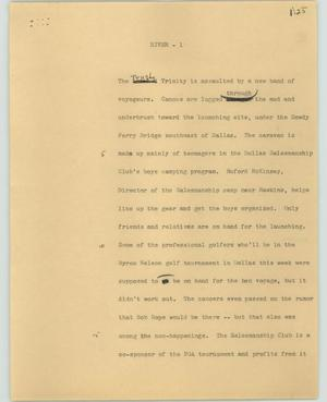 Primary view of object titled '[News Script: River]'.